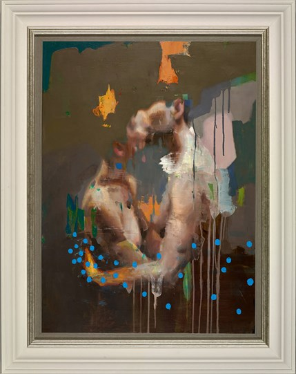 The Kiss by Christian Hook - Framed Canvas on board